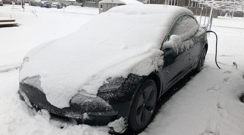 C'est l'hiver! Avec la Model 3, c'est un challenge!
