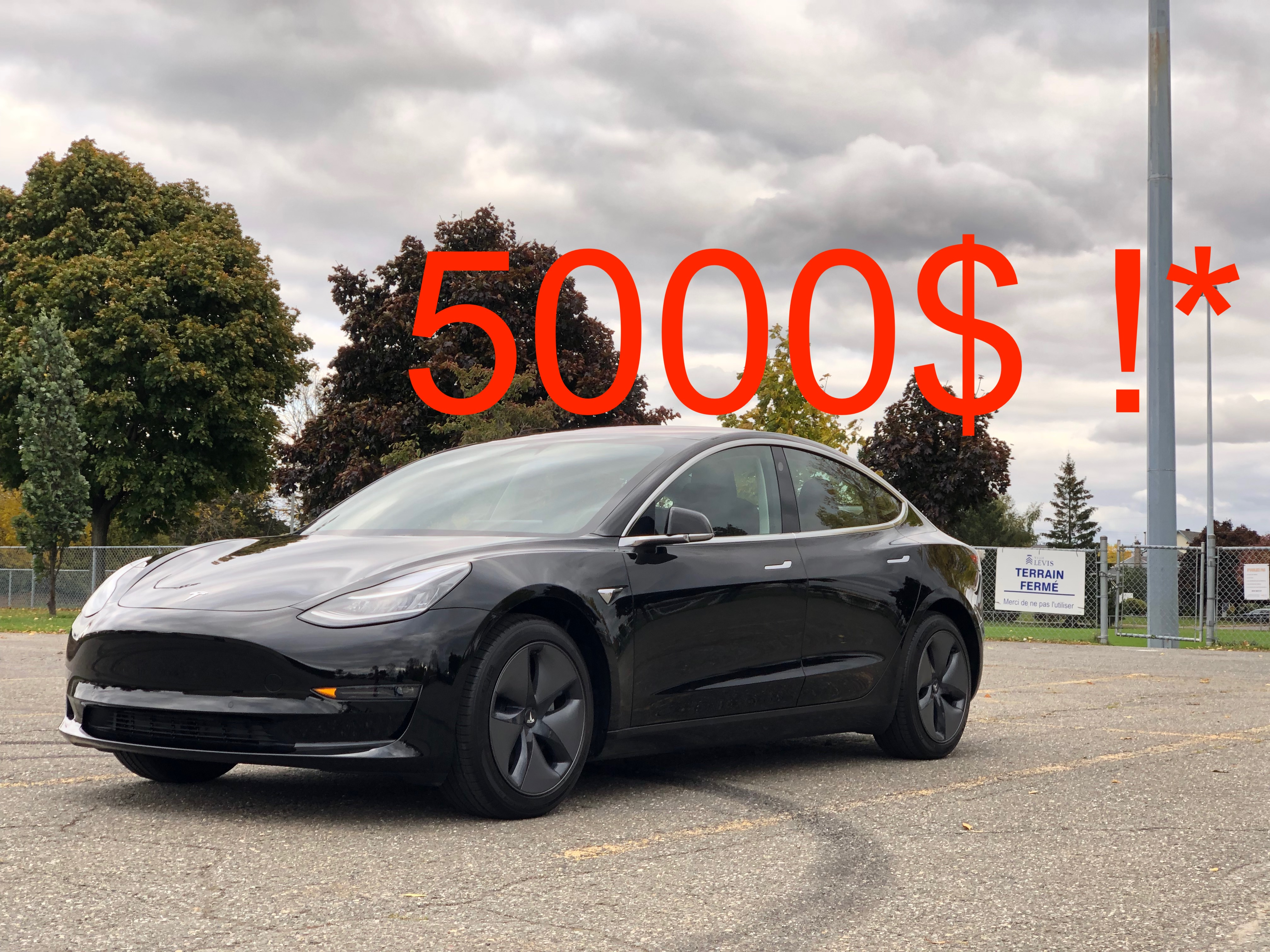 FAQ rabais fédéral de 5000$ pour la Tesla Model 3 - Model ...