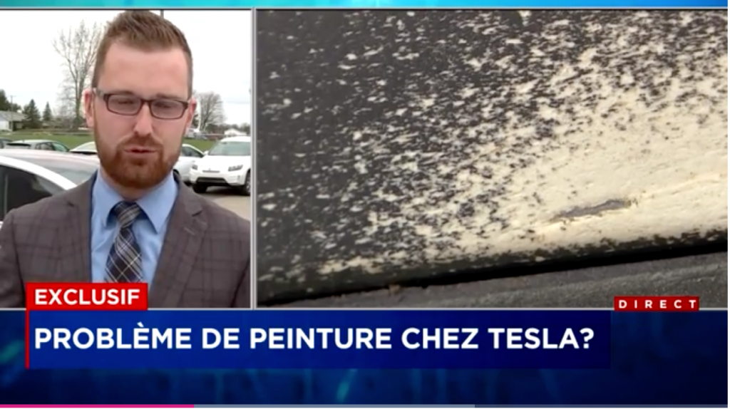 Problème de peinture Tesla
