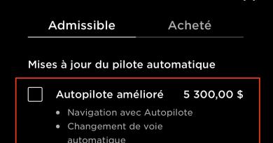 Autopilote amélioré est de retour pour 5300$
