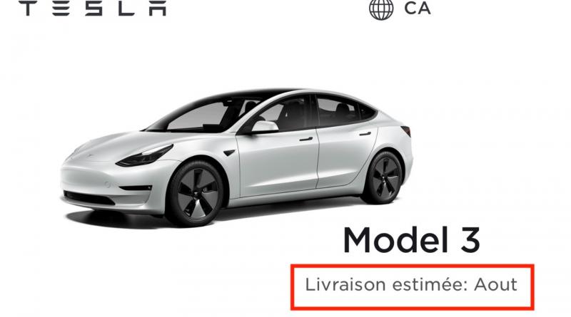 Model 3 SR+; presque un an pour la livraison! Les usagées vont s'envoler!!