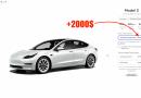 Augmentation de 2000$ pour la Model 3 SR+